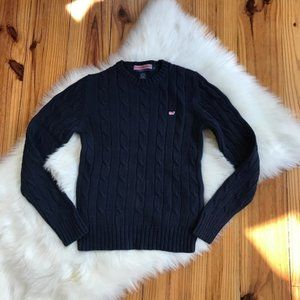 Vineyard Vines navy Blue Cable knit Sweater Small